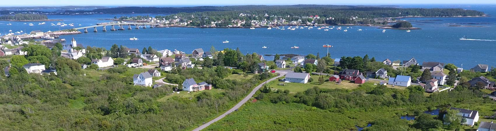 Aerial view of Jonesport, Maine
